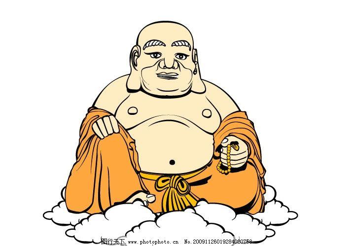 弥乐佛卡通像 弥乐佛 卡通像 弥乐佛漫画像 佛像 矢量图 ai 宗教信仰