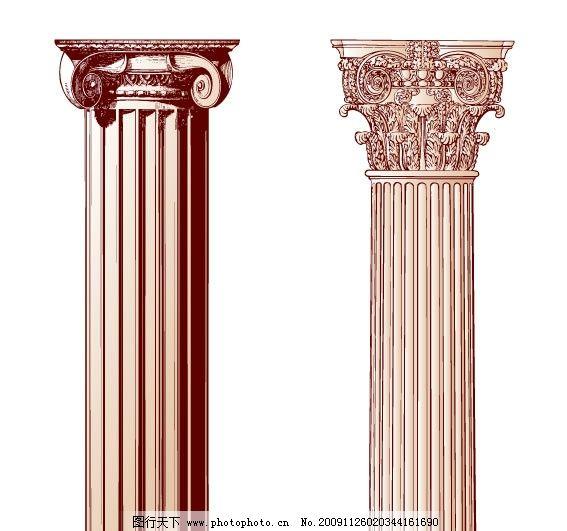 柱子 花纹 建筑装饰 综合打包矢量素材集合 花纹花边 底纹边框 矢量