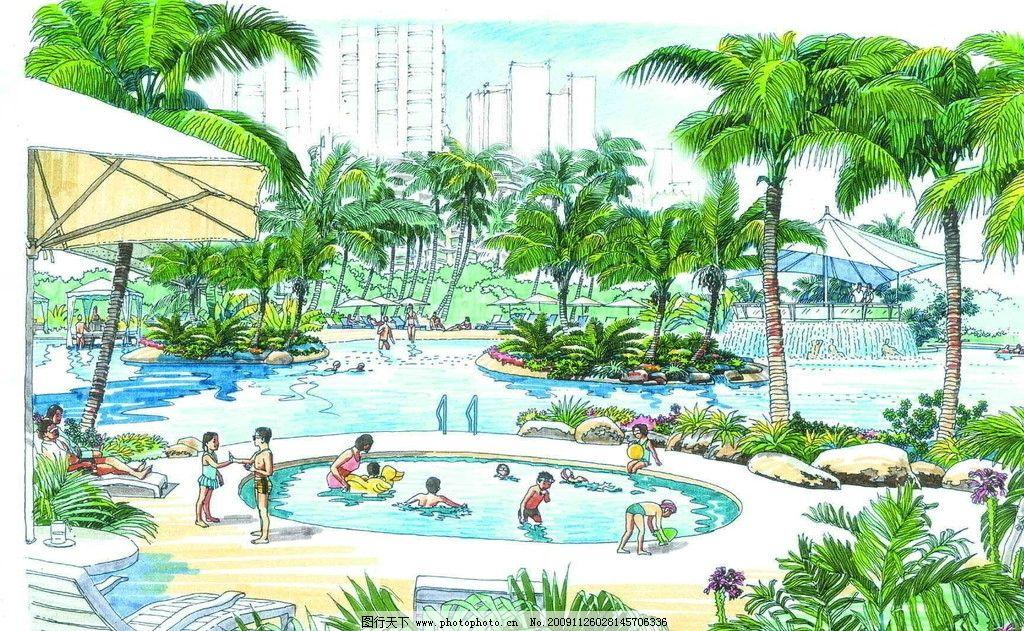 公园手绘设计图__景观设计