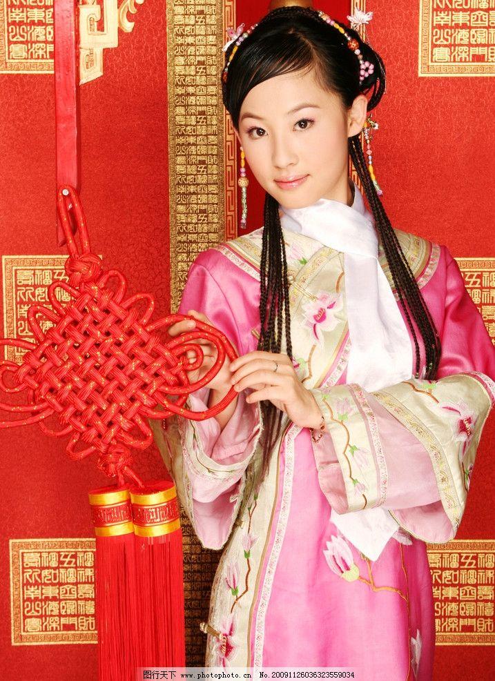 设计图库 名片卡证 商务名片  天香国色小格格4 东方 古装 美女 服装