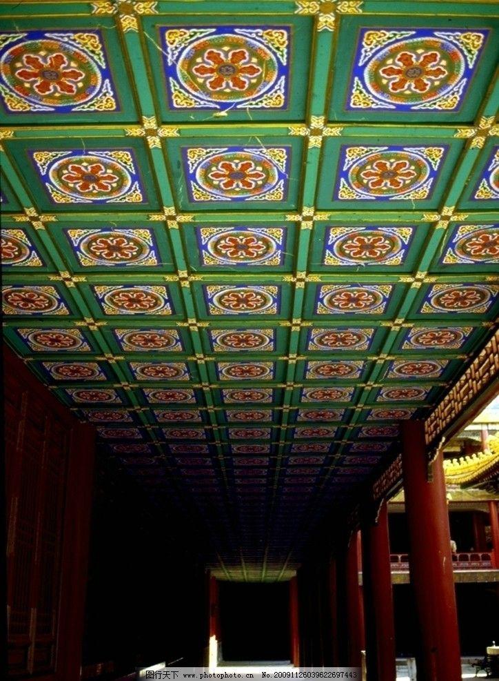 古典建筑 祥云 宫殿 文化艺术 墙壁 花纹 祥和 吉祥 龙 古龙
