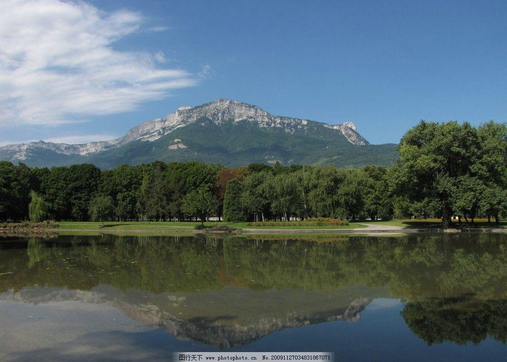 风景如画 青山绿水 蓝天白云 倒影 自然风景 自然景观 摄影 180dpi