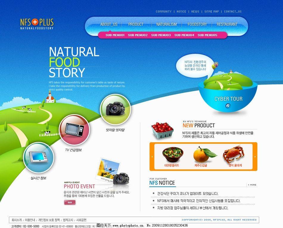 设计图库 界面设计 网页界面模板