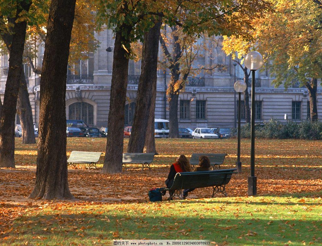风景 自然 英国 巴黎 伦敦 树林 秋天 落叶 植物 美景 美女