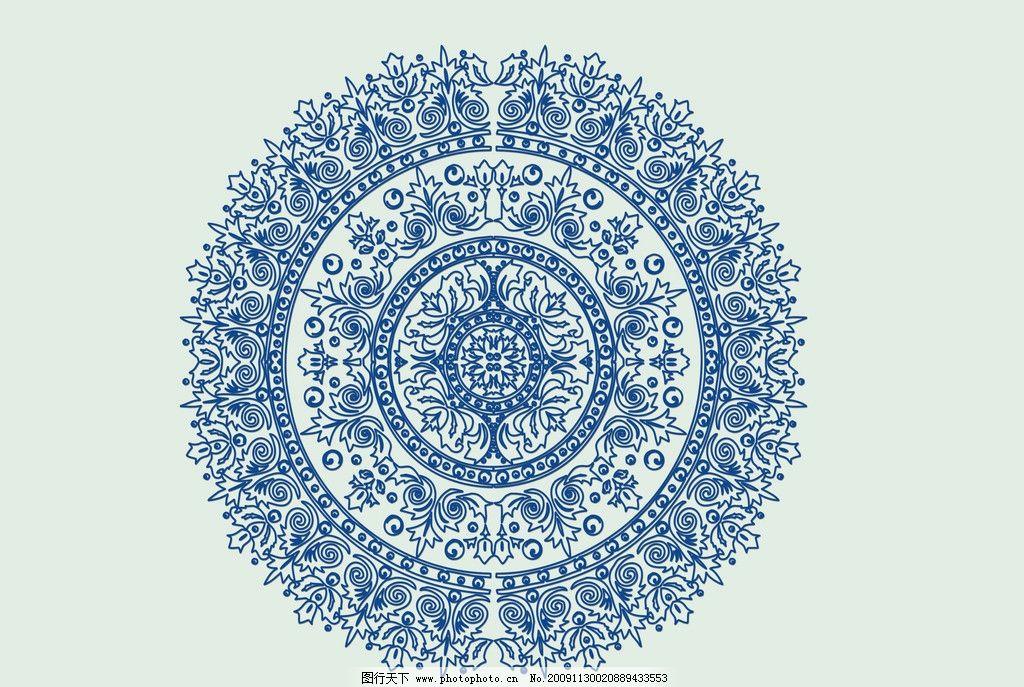 青花瓷底纹 青花底纹 青花背景 青花效果 高清设计图片 广告设计