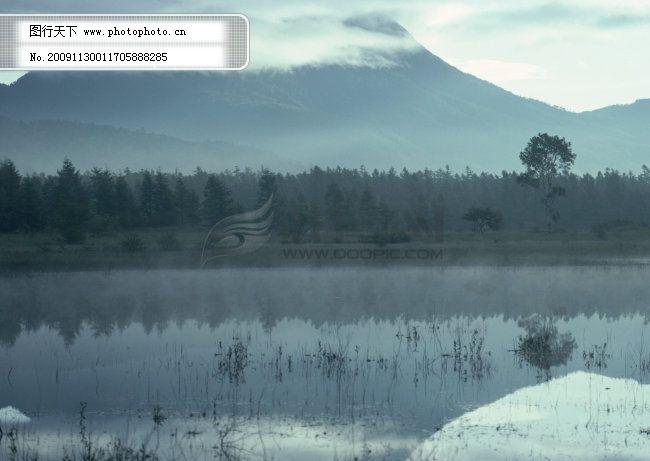 山水景观 村庄 风景 风景背景 风景画 河流 湖泊 湖景 湖面
