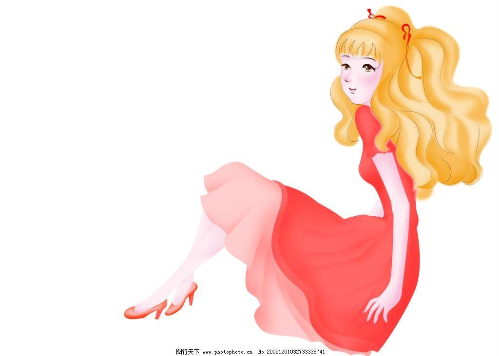 可爱的公主图片,手绘 分层 人物 源文件-图行天下图库