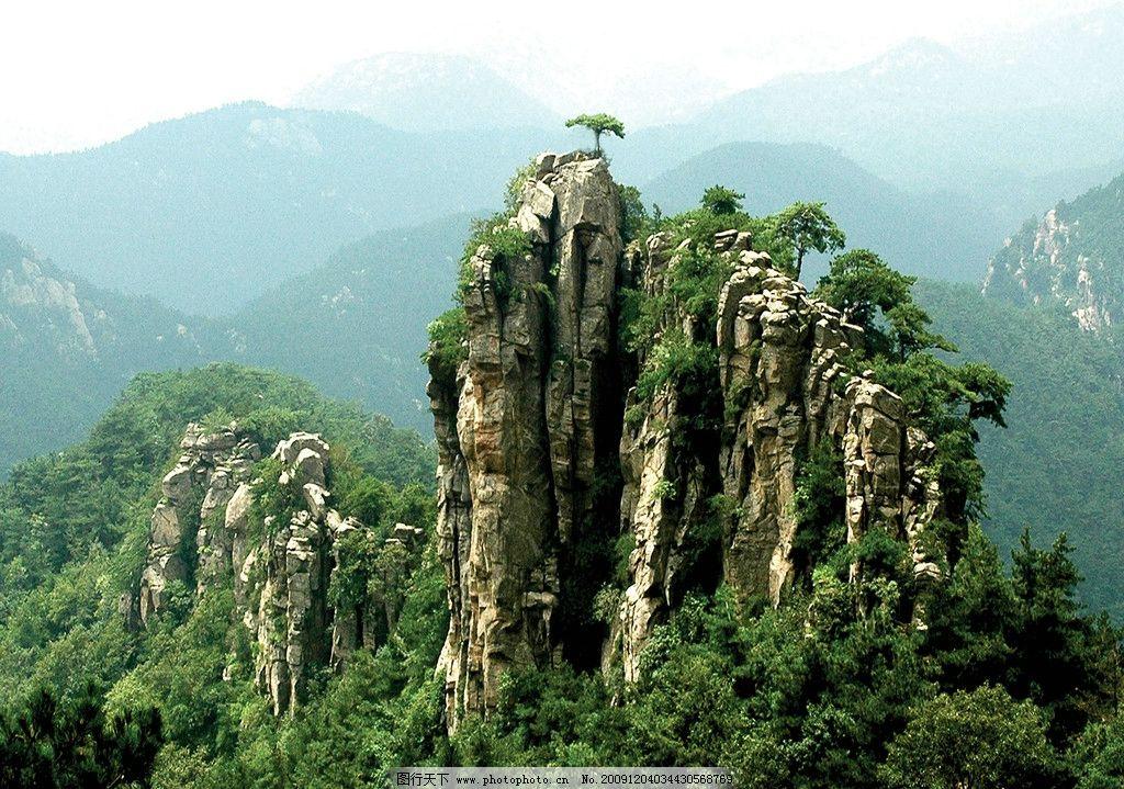 山野风光 风景 山景 山峰 远山 观景区 旅游区 树木 山路 山石