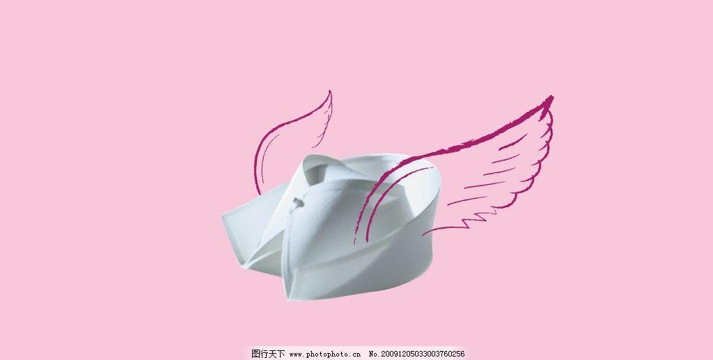 护士帽简笔画-护理素材