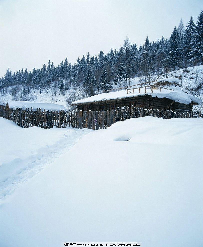 qq头像雪景房子图片