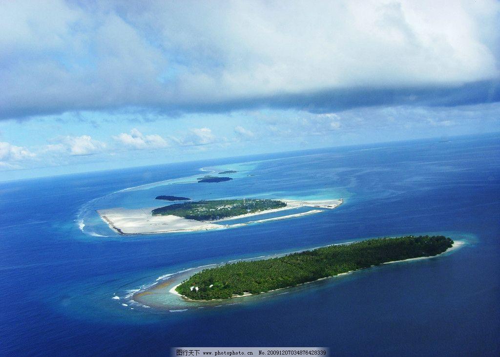 俯瞰海岛图片_自然风景