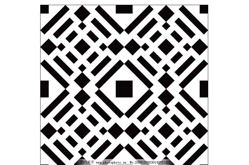 图形设计 正方形 长方形 黑白 移门图案 广告设计 矢量 ai