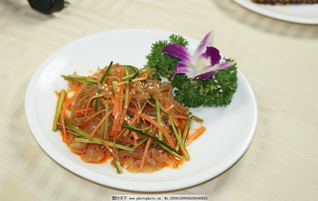 凉拌海蜇头 湘菜 传统美食 餐饮美食 摄影