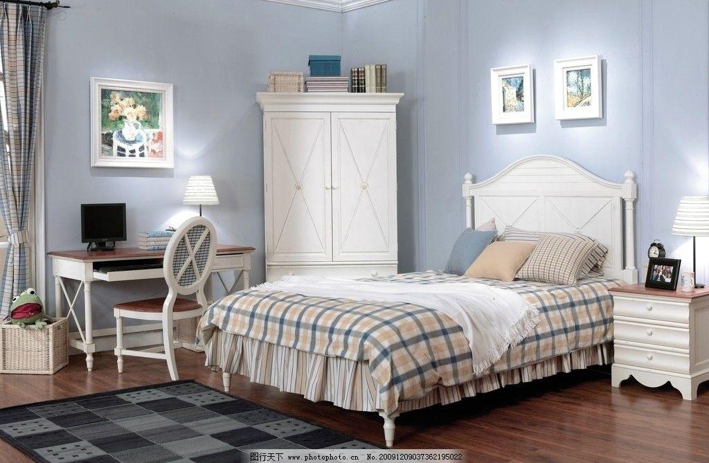 欧式床 家具 床头柜 椅子