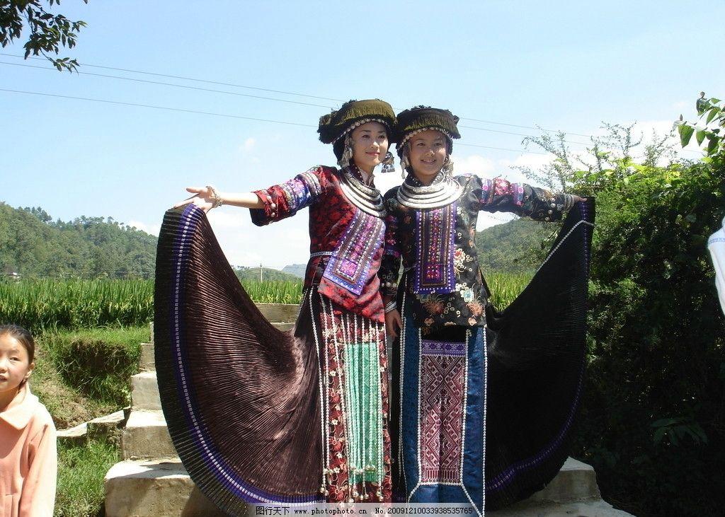 苗族美女3 苗族服饰 贵州 黔西南 苗族节日盛装 田甜 杨梅 旅游形象大