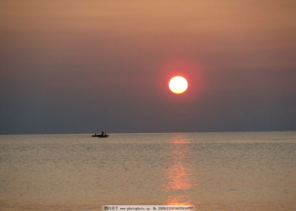 日出 海面 风景 看日初 朝霞 清晨 自然风景 自然景观 摄影