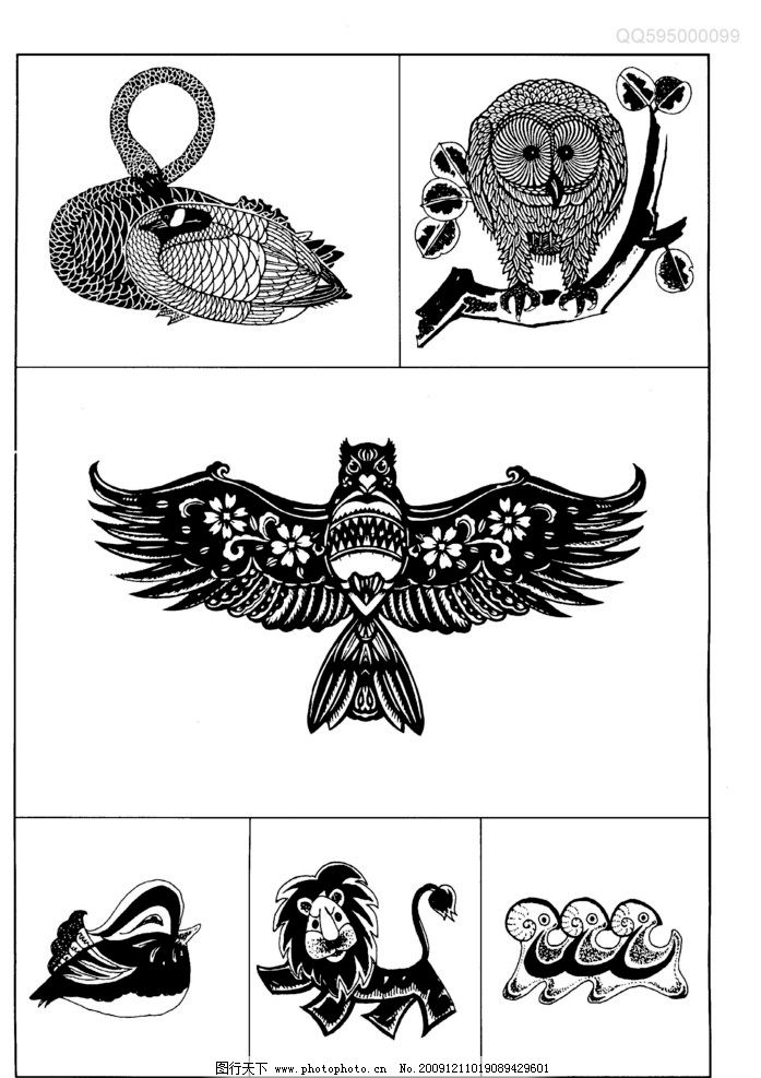 现代装饰动物图案39图片