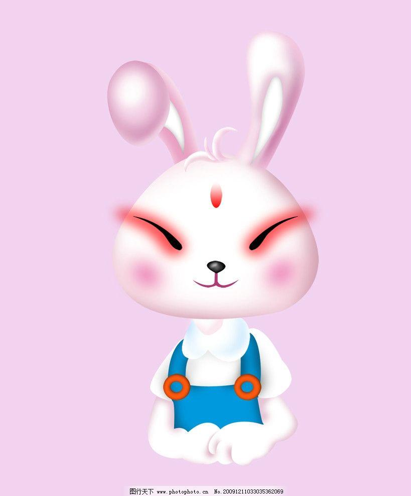 萌学可爱小玉兔子红眼睛