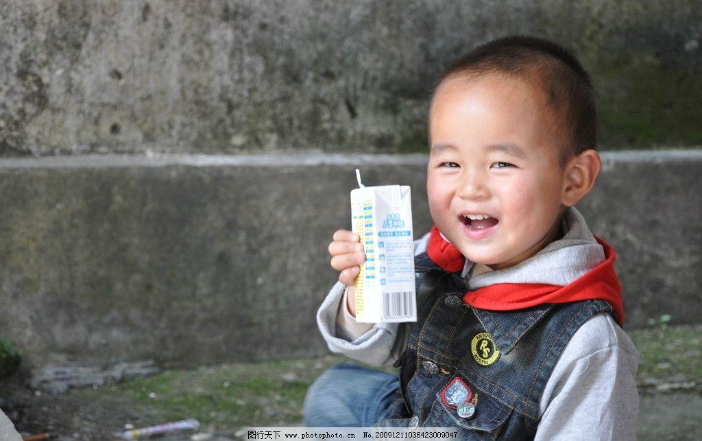 可爱宝宝 毛毛喝牛奶之好牛奶图片,儿童 爱笑 蒙牛-图