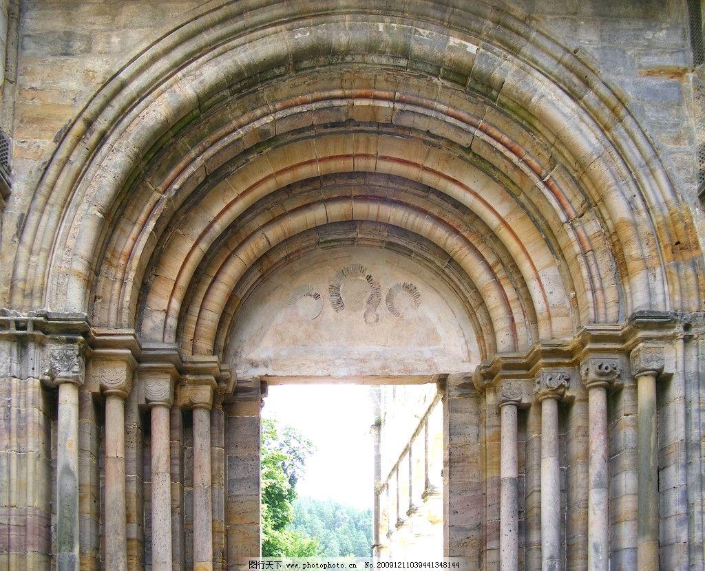 建筑 拱形门 欧式 层次 深度 罗马柱 贵族 皇室 建筑摄影 建筑园林