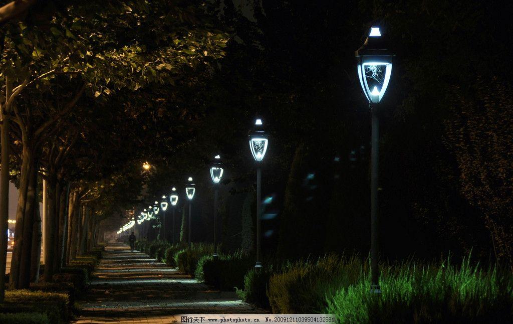 夜景 灯光 园林建筑 建筑园林 摄影 300dpi jpg