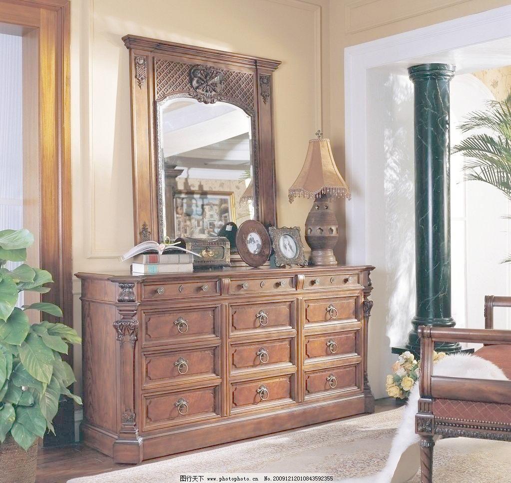 欧式柜子镜子图片