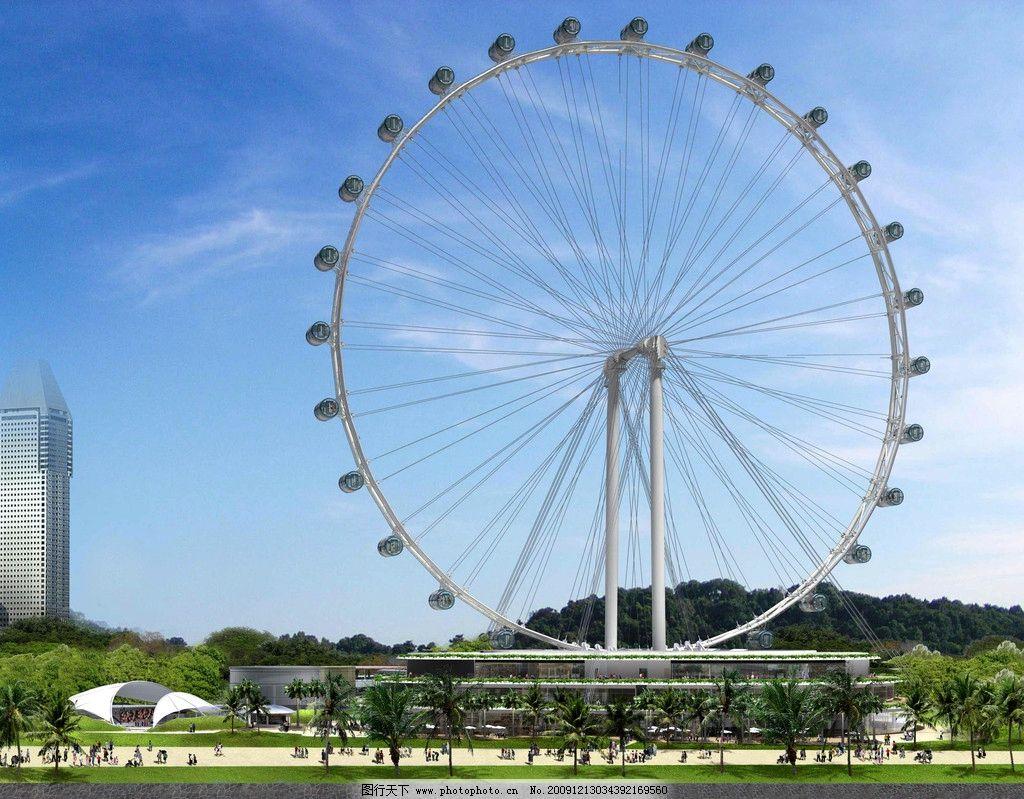 新加坡摩天轮图片