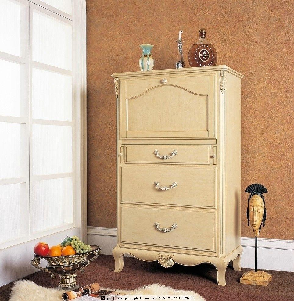 柜子 欧式 家具 白色 抽屉 家居生活 摄影图片