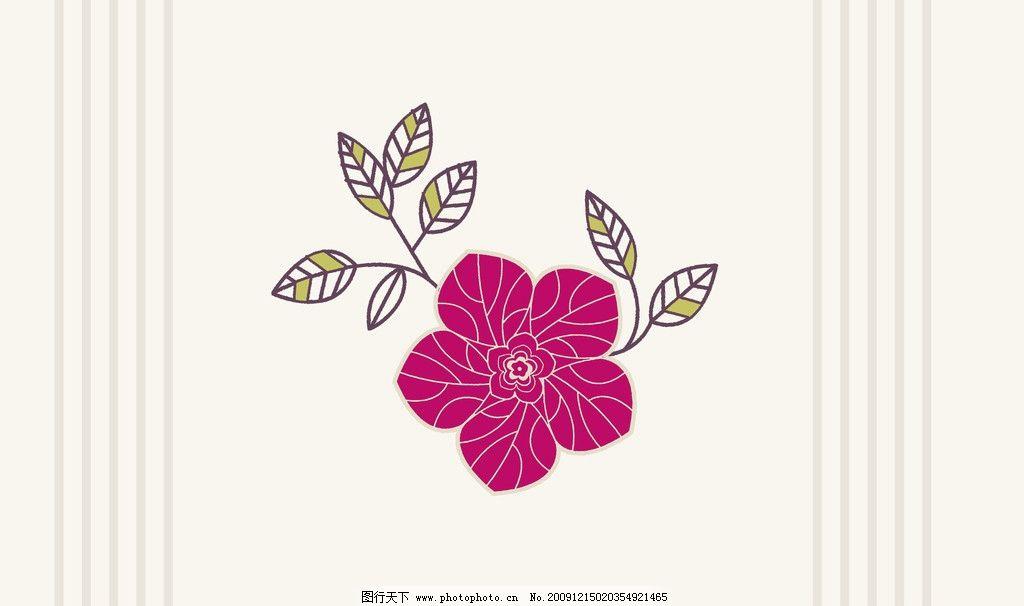 大花 花卉 图案 大花头 叶 花边花纹 底纹边框 设计 72dpi jpg