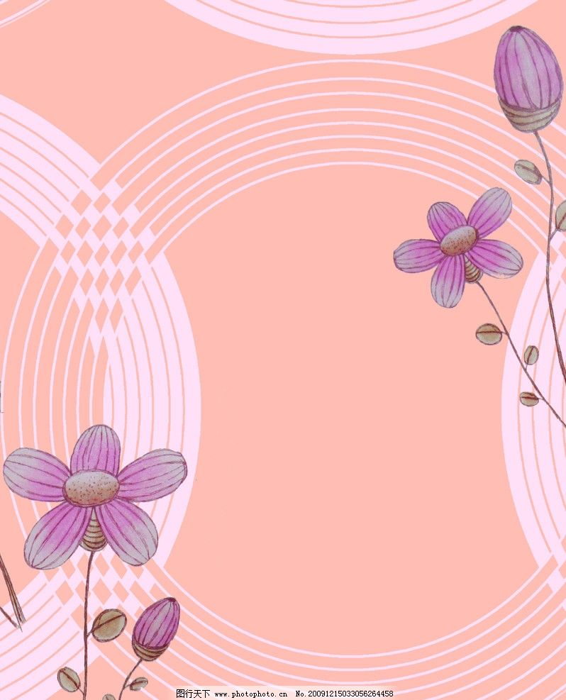 精美组合图案 圆形 花型 组合图案 可爱小花 美丽的小花 psd分层素材