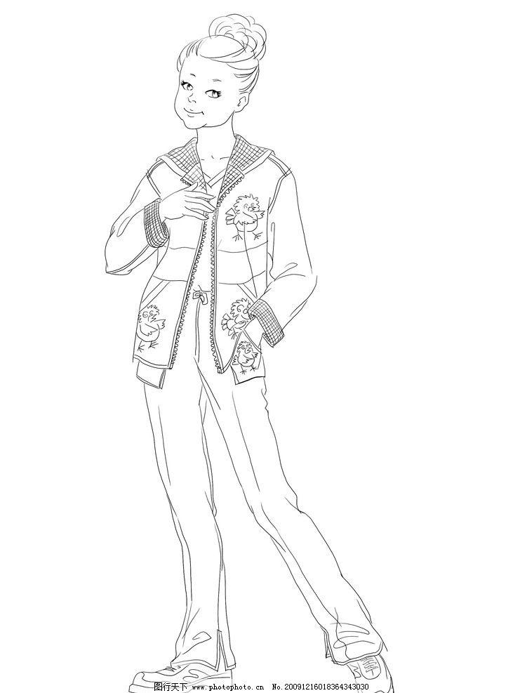 服装设计素材 男 男性 儿童 小孩 素描 动漫 动画 人物 动漫动画