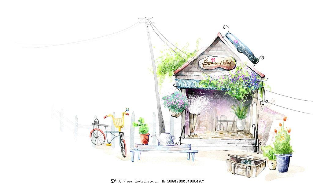 韩国背景插画4图片