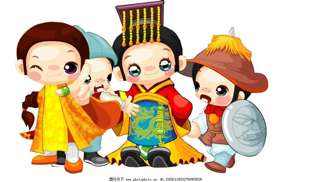 卡通人物 韩国人物 q版 矢量 各种职业 可爱 可做吊挂 人物 psd分层