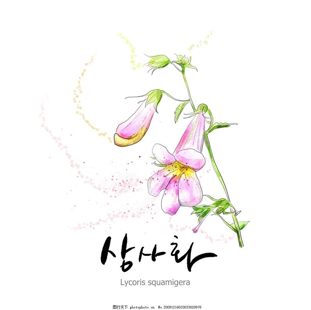 花朵 底纹 花纹 水墨画 源文件