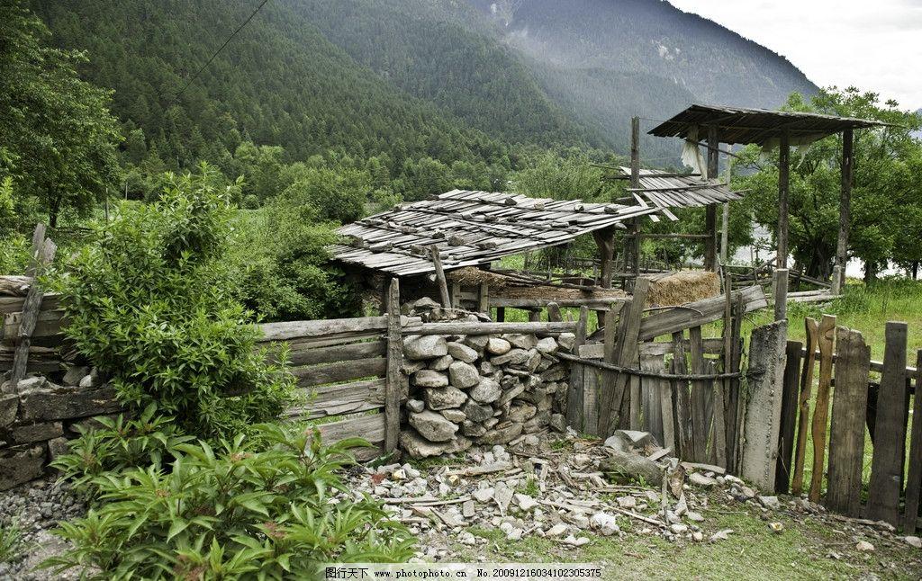 乡村小屋图片_自然风景