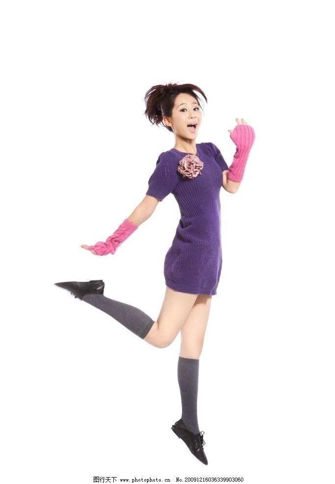 美丽 少女 明星 童星 时尚 紫色 可爱 青春 明星偶像 人物图库 摄影