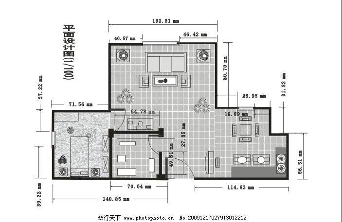 室内平面图 厨房 客厅 卫生间 房间 平面设计 矢量素材 室内布置