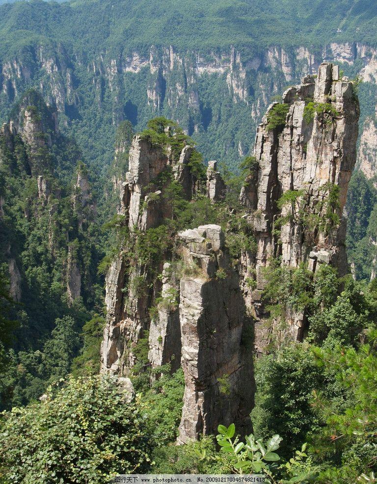 张家界风景 摄影图库 湖南 世界遗产