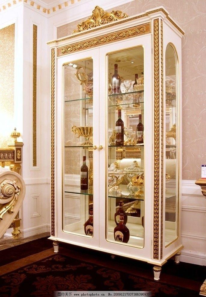 欧式酒柜图片