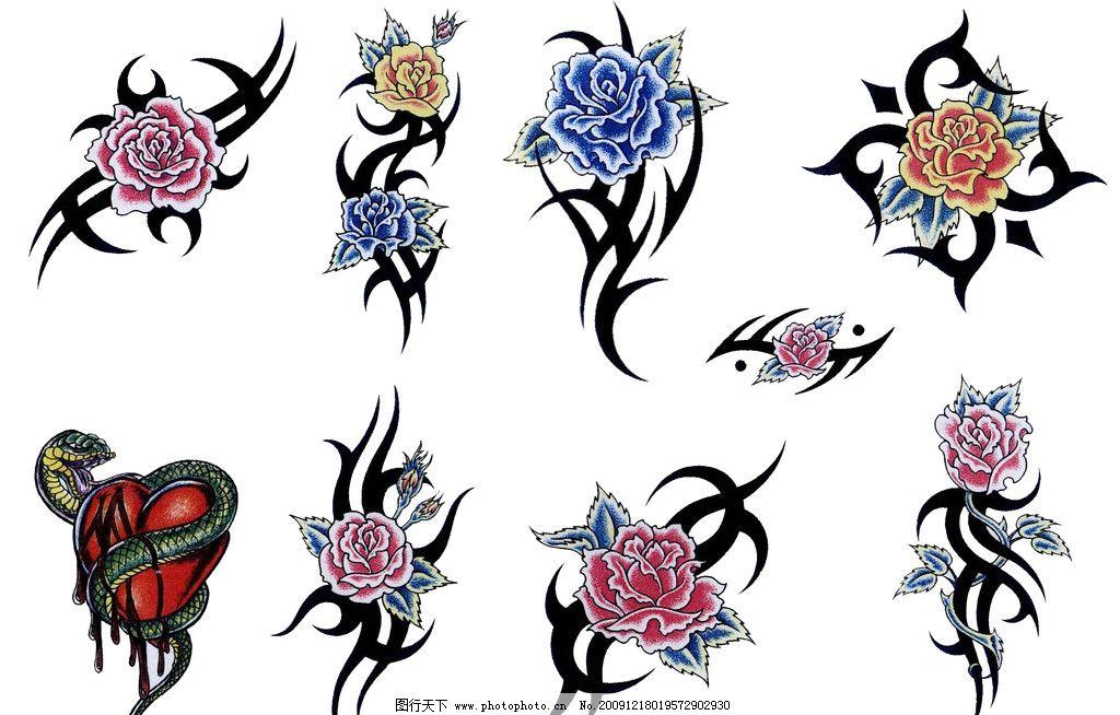 纹身 花图片