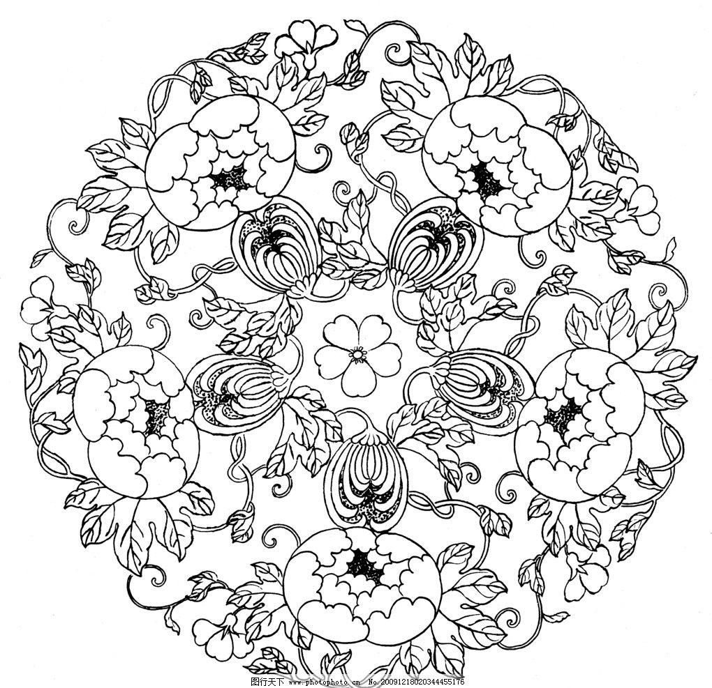 花纹 底纹 菊花 中国风 传统 花边花纹 底纹边框 设计 1200dpi jpg