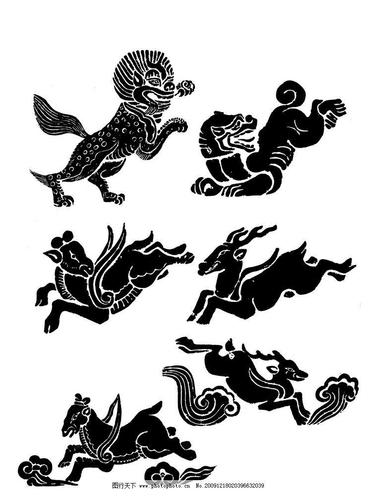 动物 吉祥动物 古典花纹 经典纹样 传统 纹理 矢量素材 国外古典装饰
