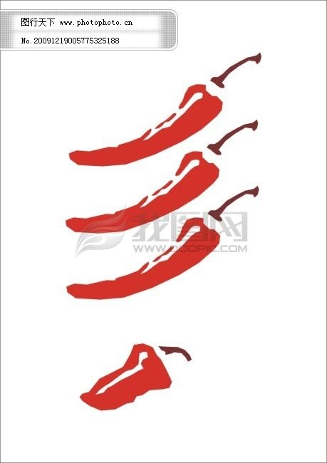 辣椒 失量图 失量图 辣椒 海椒 尖椒 失量辣椒 单色辣椒 矢量图 日常