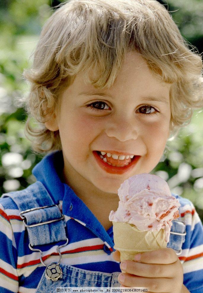 小孩冰淇淋 简笔画