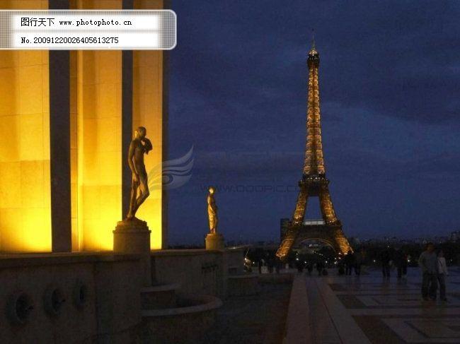 巴黎夜景 巴黎之夜 城市夜景 宏伟建筑 高清图片 图片素材 风景|生活