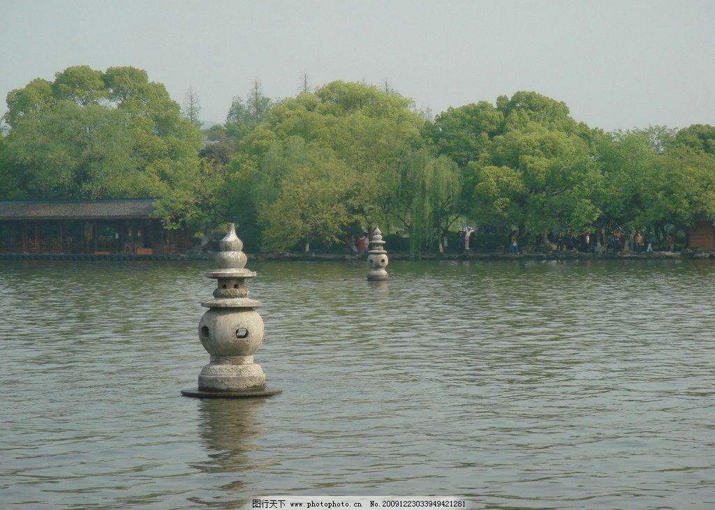 三潭映月 西湖 绿树 湖 美景 风景 杭州 旅游图库 国内旅游 旅游摄影