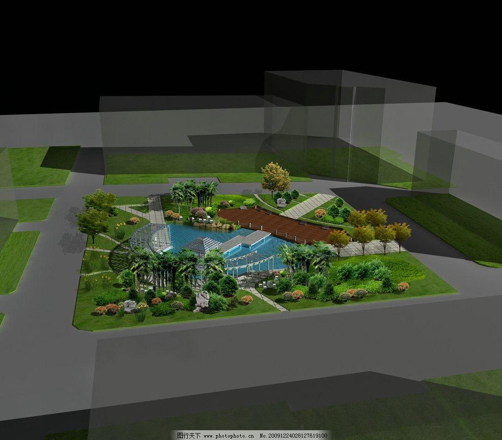 校园 绿地广场 平面图