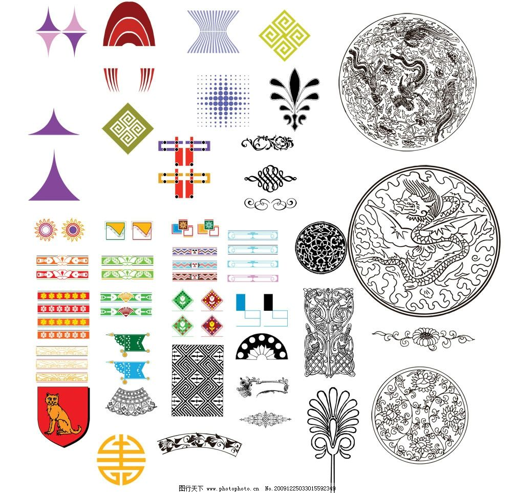 设计素材 纹样 底纹边框 花纹花边 动物图案 中国吉祥纹样 剪纸
