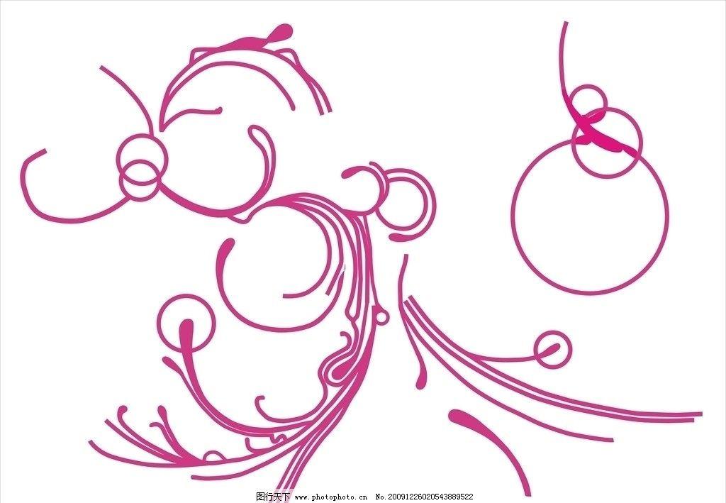 条形花纹 节日素材图片