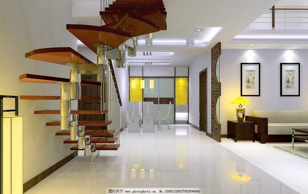客厅效果图 楼梯 灯光 玻璃 沙发 图框 室内设计 环境设计 设计 150